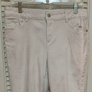 Westport cropped white jeans with lace detail